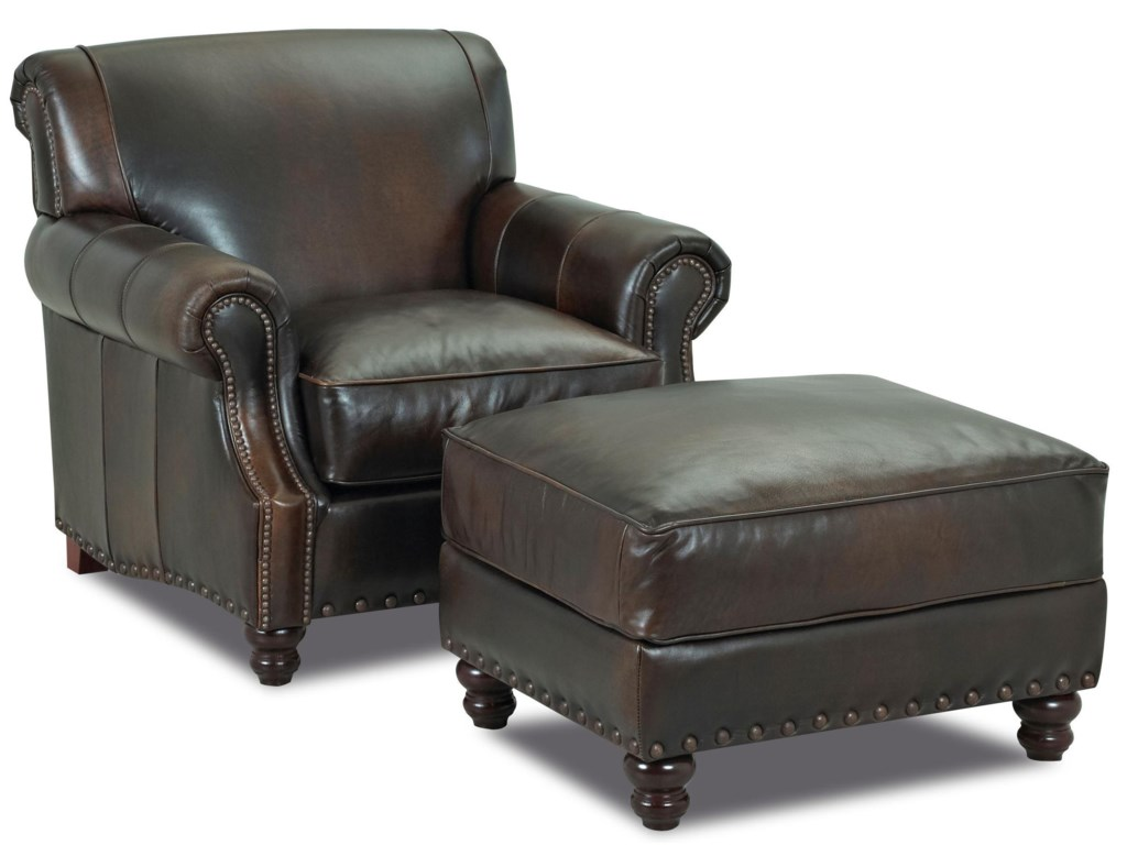 Klaussner Fremont Arm Chair & Ottoman