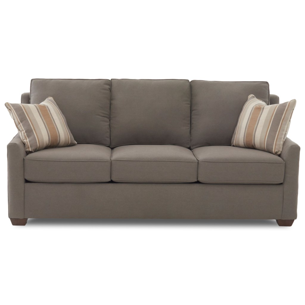 Elliston Place Fulton Contemporary 80 Sleeper Sofa With Air Coil