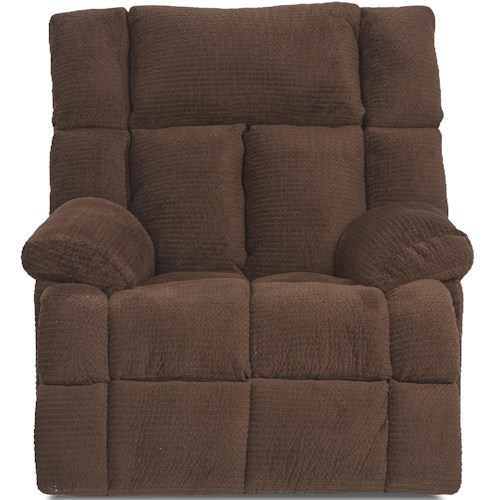 Klaussner General Casual Swivel Glider Recliner with Pillow Top Arms