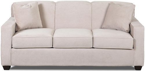 Klaussner Gillis Contemporary Dreamquest Queen Sleeper Sofa with Tight Back and Track Arms