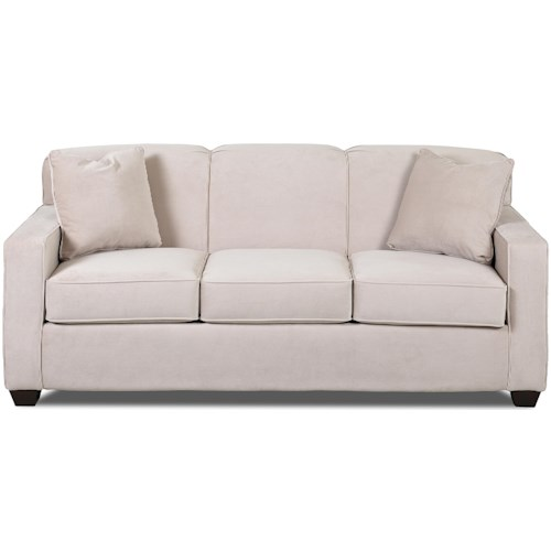 Klaussner Gillis Contemporary Enso Queen Sleeper Sofa with Tight Back and Track Arms