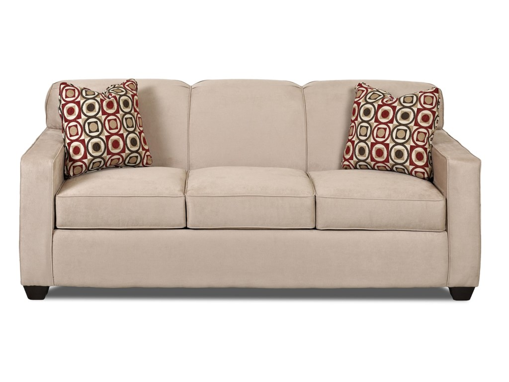 Gillis Contemporary Sofa with Tight Back and Track Arms by Klaussner at  Value City Furniture