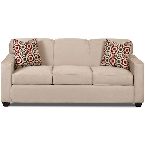 Klaussner Gillis Contemporary Sofa with Tight Back and Track Arms