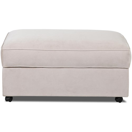 Klaussner Gillis Storage Ottoman with Lift Top and Casters