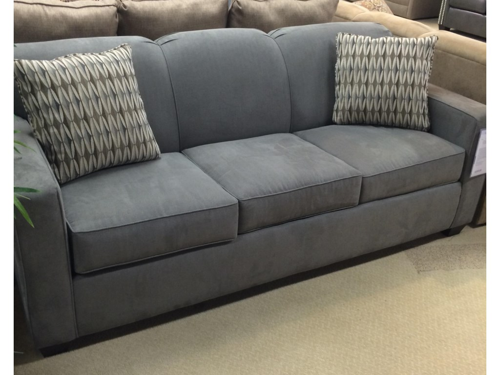 Gillis Contemporary Dreamquest Queen Sleeper Sofa with Tight Back and Track  Arms by Klaussner at Dunk & Bright Furniture