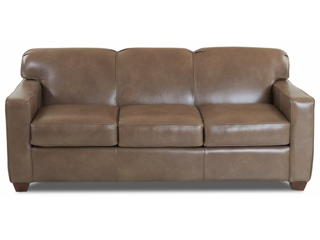 Klaussner Gillis Contemporary Leather Enso Queen Sleeper ...