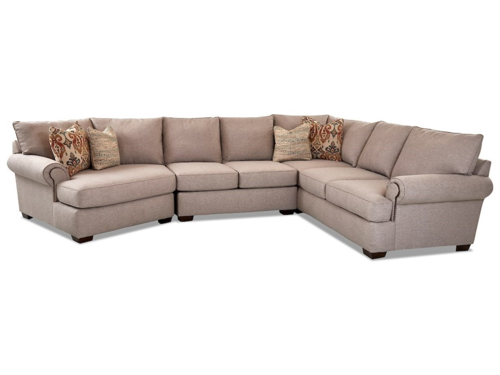 Ginger 5-Seat Sectional Sofa w/ LAF Cuddler Chair