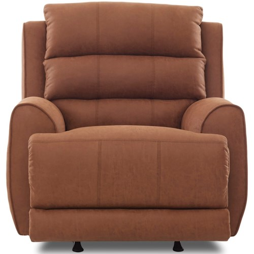 Klaussner Gleeson Contemporary Power Rocking Reclining Chair with Power Head/Lumbar, USB Port, and Bluetooth Functionality