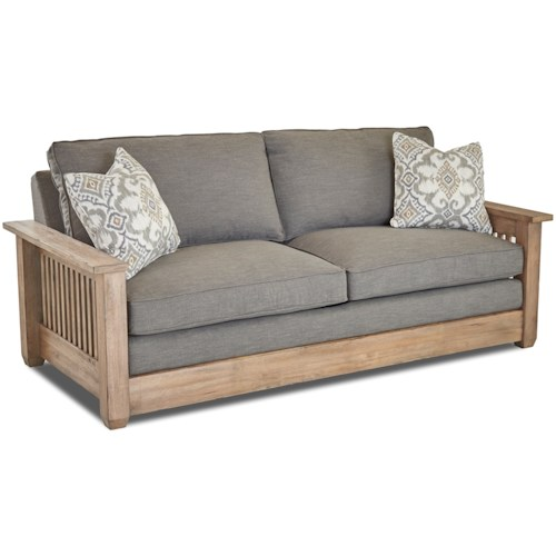 Klaussner Glenwood Sofa with Mission Style Arms