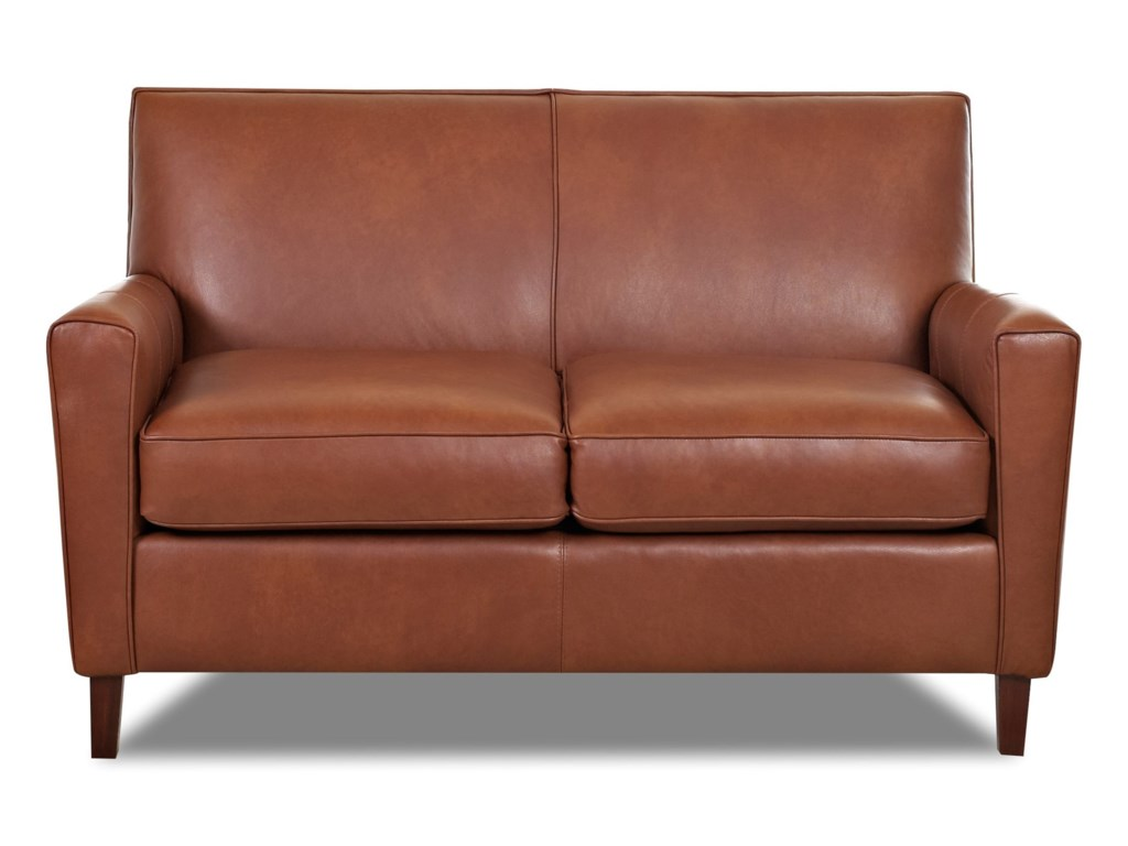 Klaussner Goldie LT8800 LS Contemporary Leather Loveseat ...