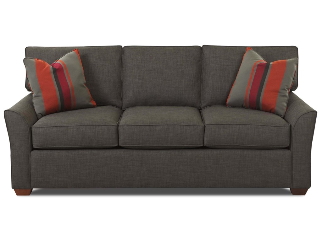 Grady Contemporary 3 Seat Queen Innerspring Sleeper Sofa With Box Cushions By Elliston Place