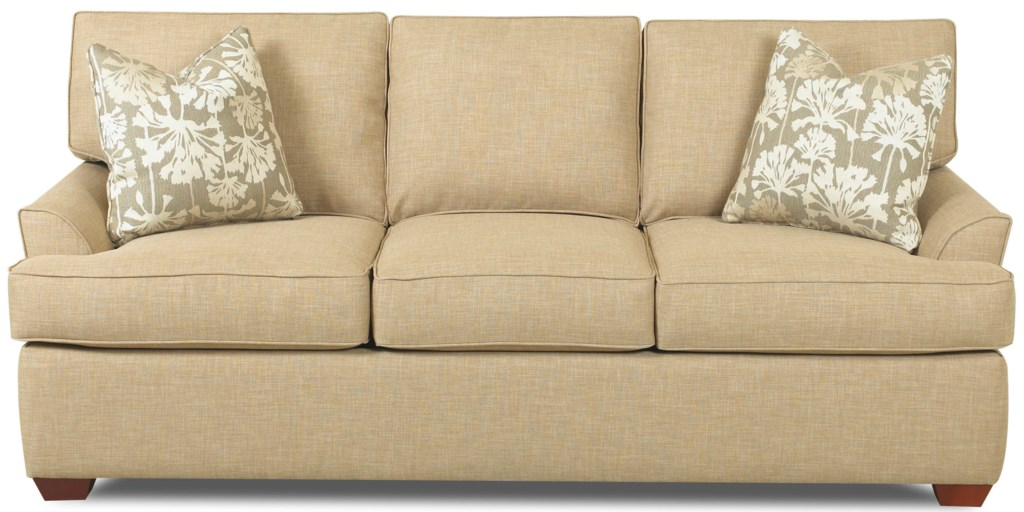 Grady contemporary 3 seat sofa with flared arms and t seat cushions by elliston place