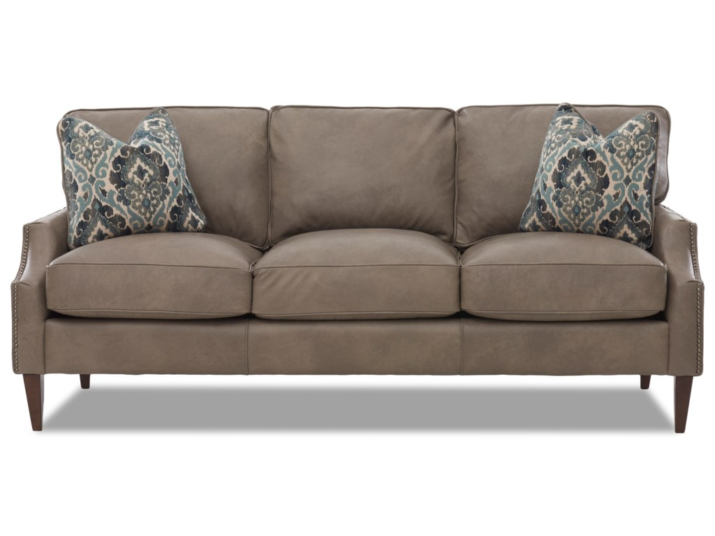 Klaussner GrammercyLeather Sofa