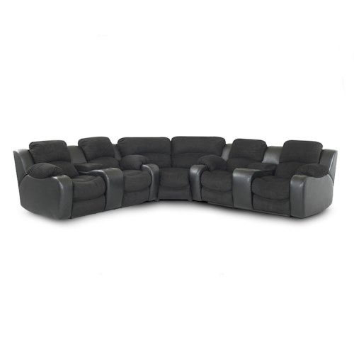Klaussner Grand  Dual Console Reclining Sectional Sofa