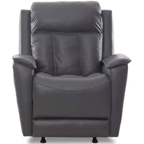 Klaussner Grant Casual Power Recliner with Power Headrest and Lumbar Support