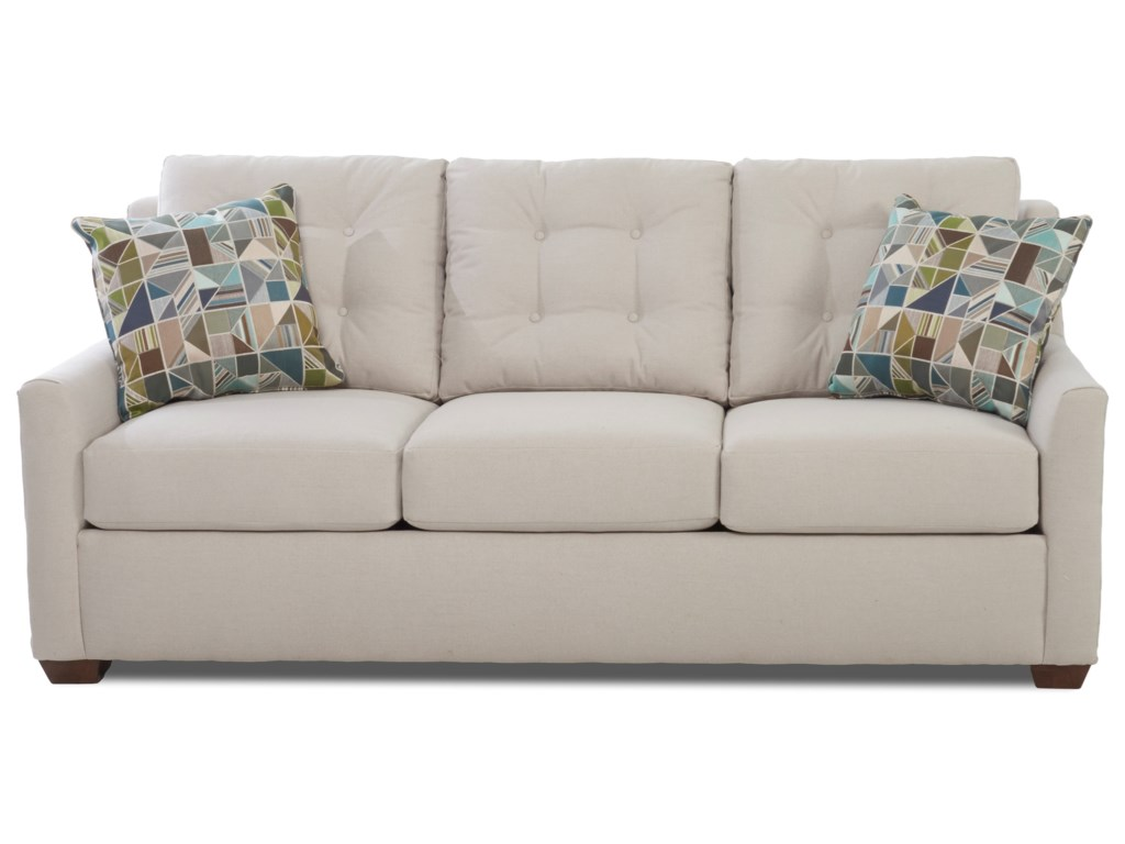 Klaussner Grayton Sofa with Button Tufting and InnerSpring
