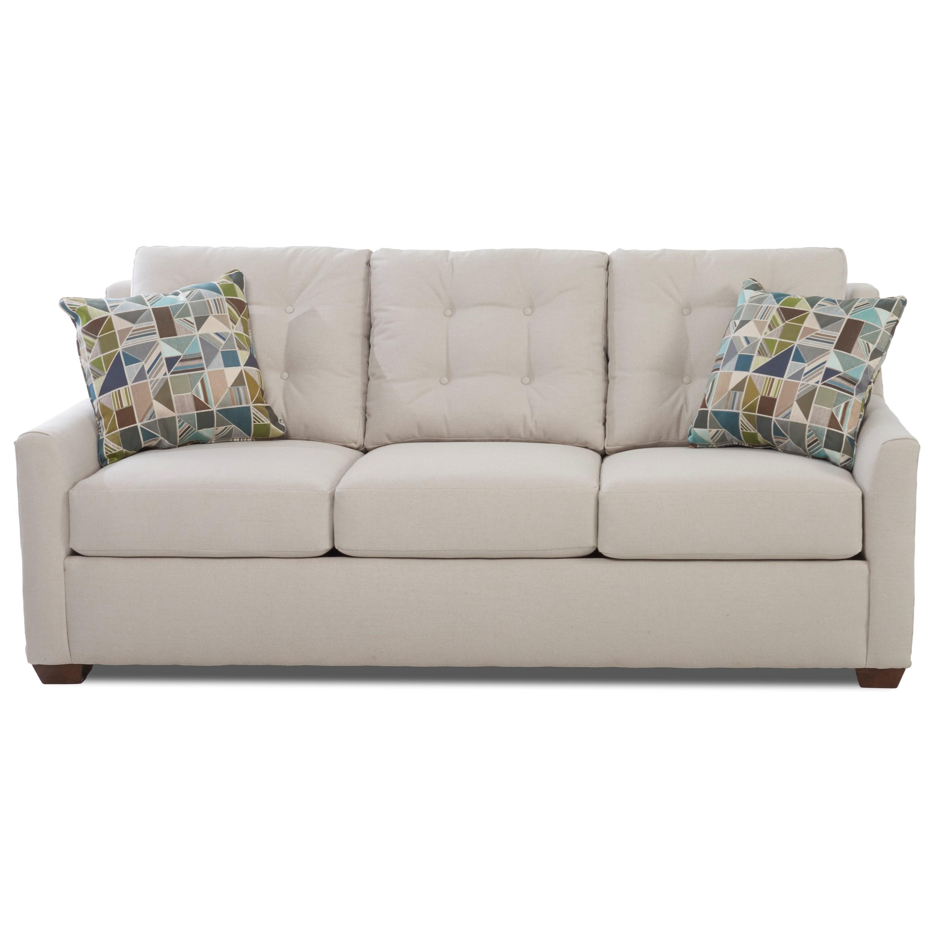 Klaussner GraytonQueen Enso Memory Foam Sleeper Sofa ...