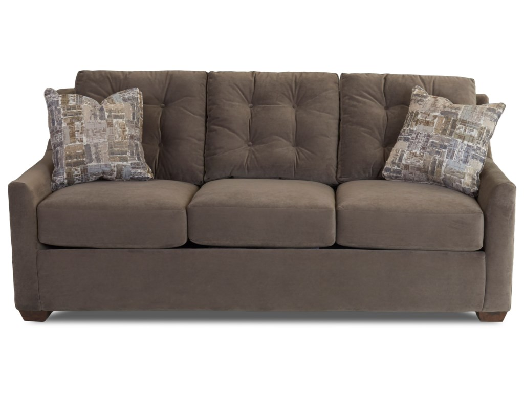 Grayton Sofa With On Tufting And Innerspring Cushions By Klaussner