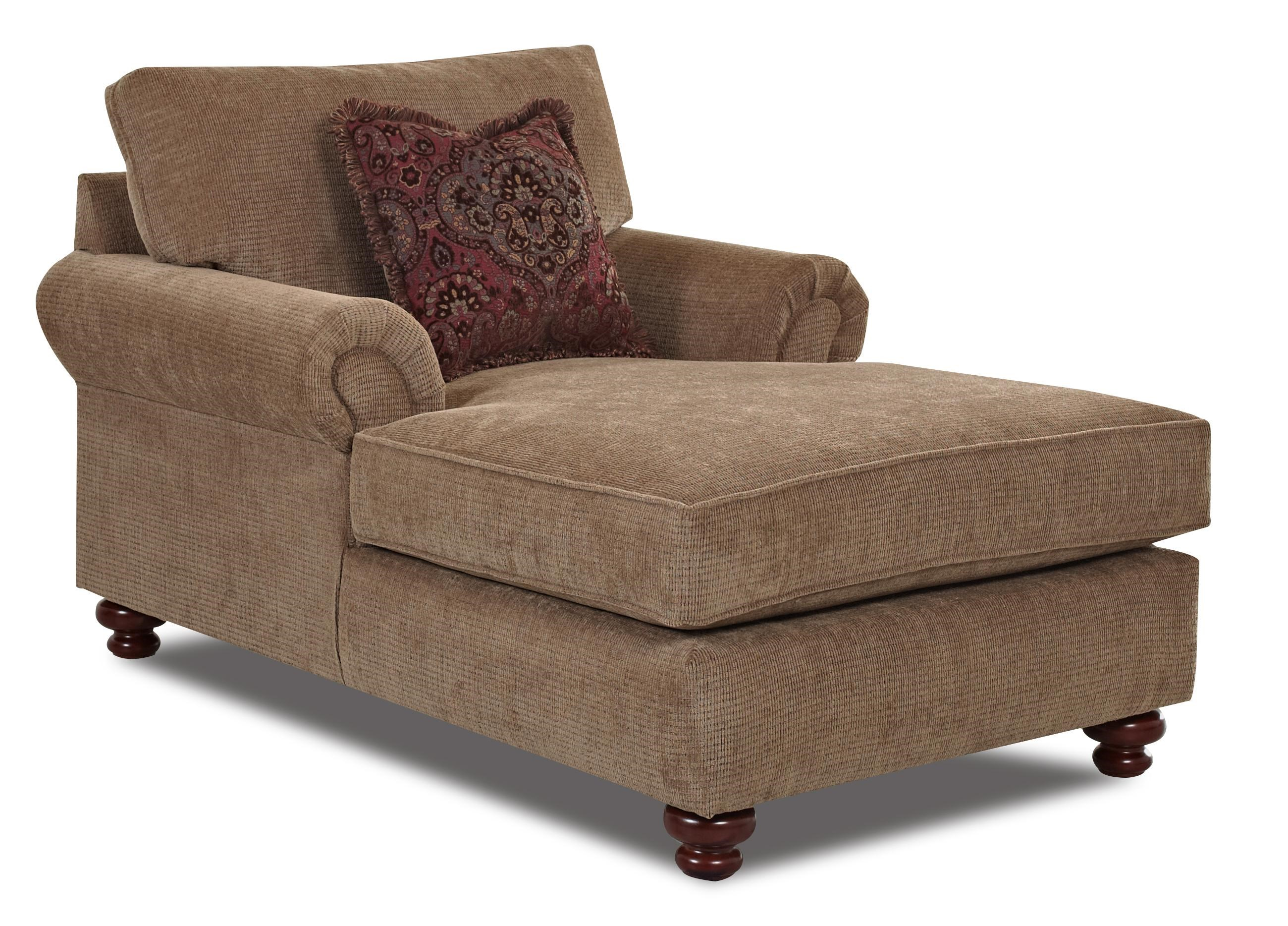 Klaussner Greenvale Traditional Chaise Lounge Value City