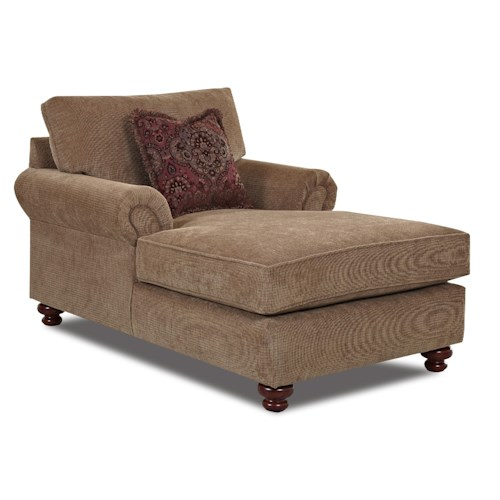 Klaussner Greenvale Traditional Chaise Lounge