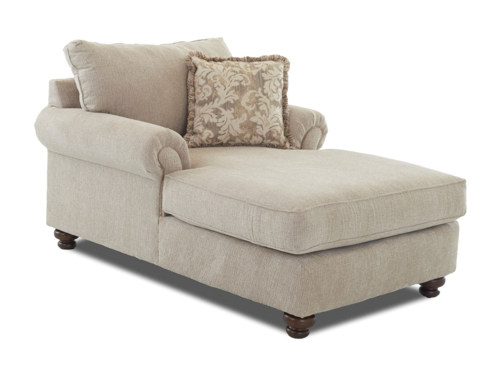 Greenvale Traditional Chaise Lounge By Klaussner