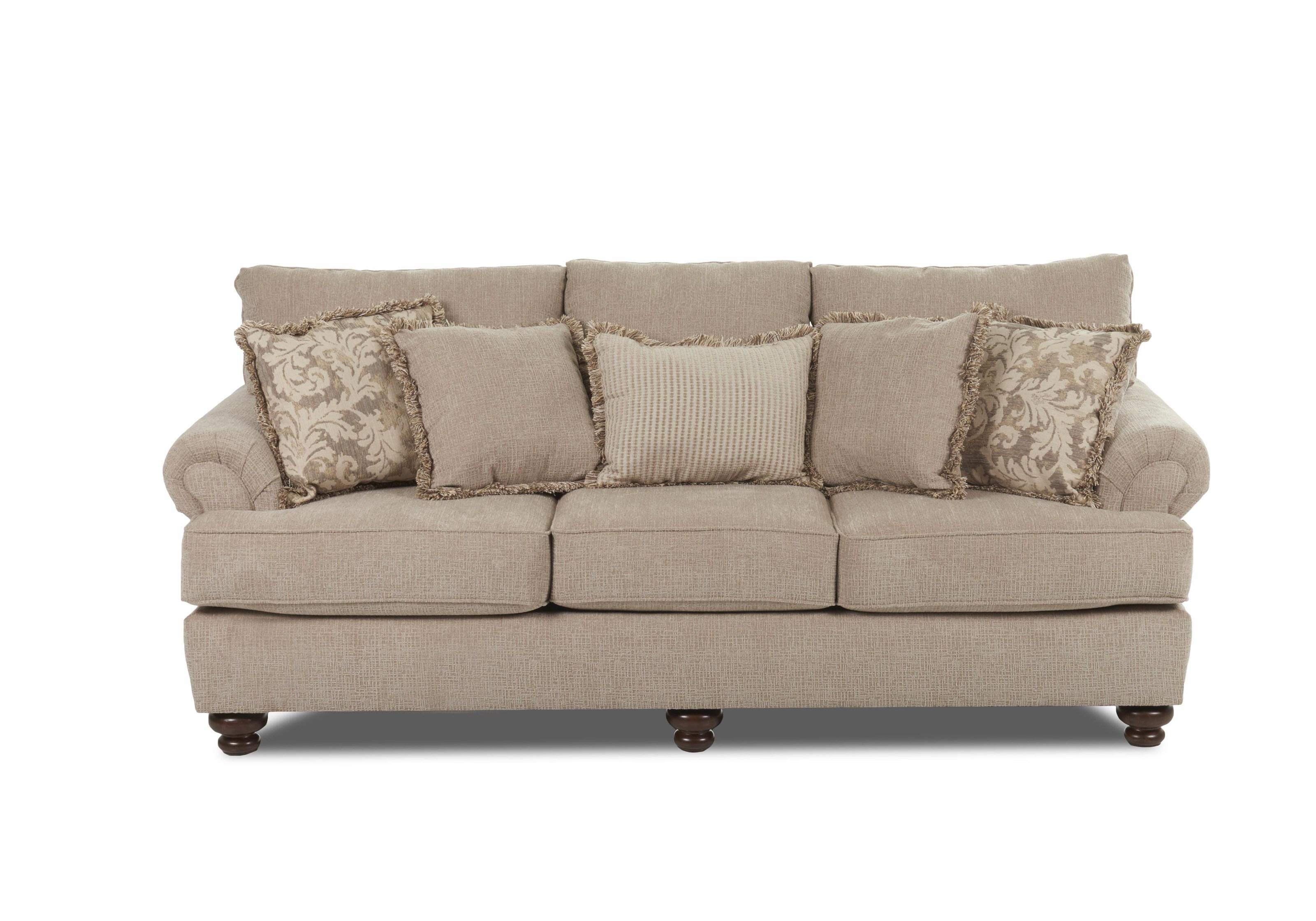 Klaussner GreenvaleTraditional Stationary Sofa ...
