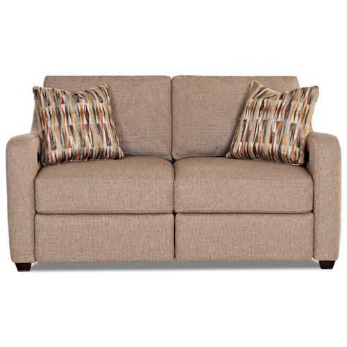 Klaussner Greer Power Hybrid Loveseat