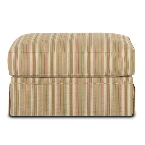 Klaussner Grove Park Ottoman with Skirt and Welt Cords