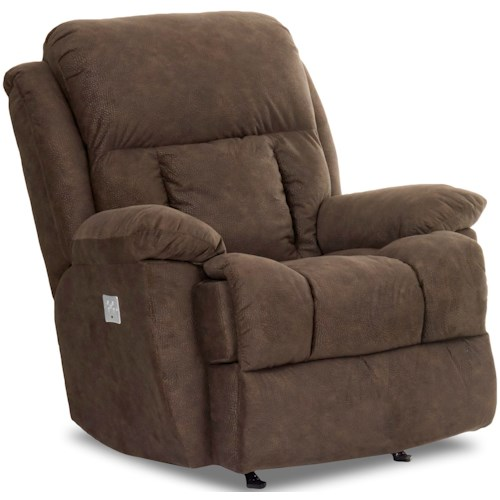 Klaussner Gwynn Casual Power Reclining Chair with Power Headrest
