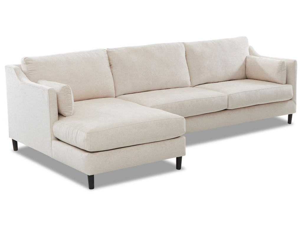 Klaussner Harlow3-Seat Modular Chaise Sofa w/ LAF Chaise
