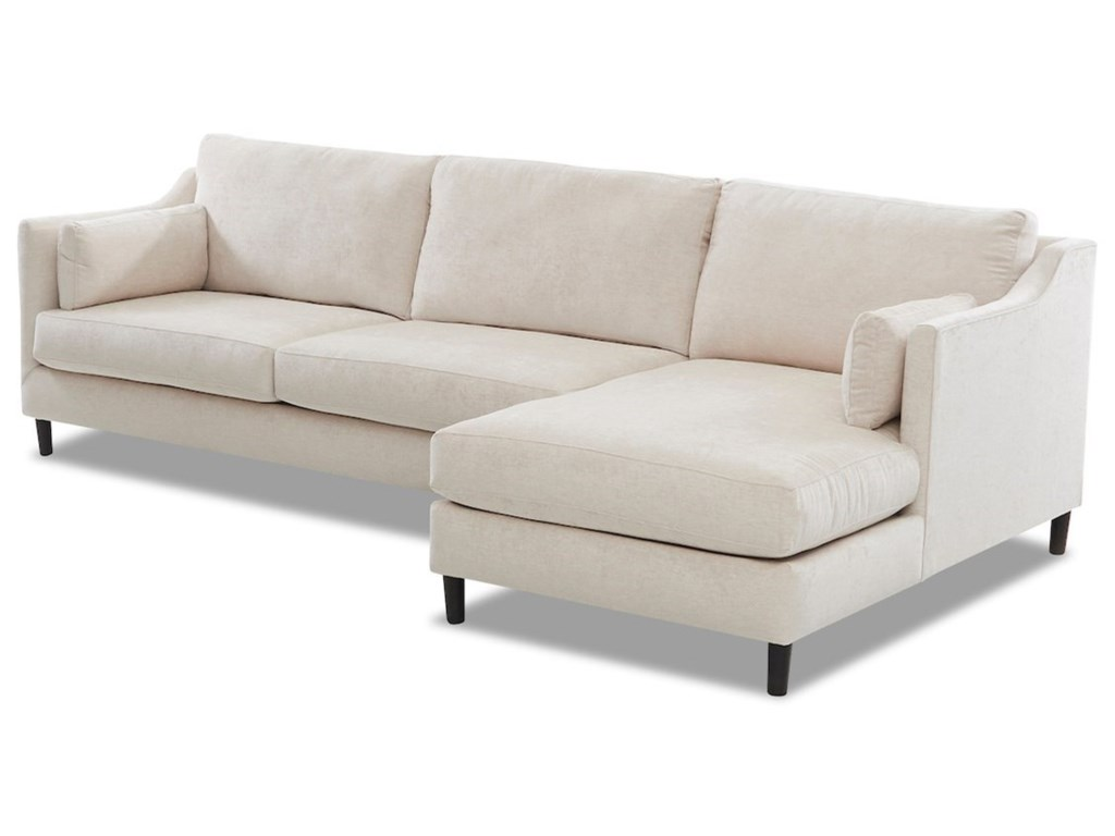 Klaussner Harlow3-Seat Modular Chaise Sofa w/ RAF Chaise