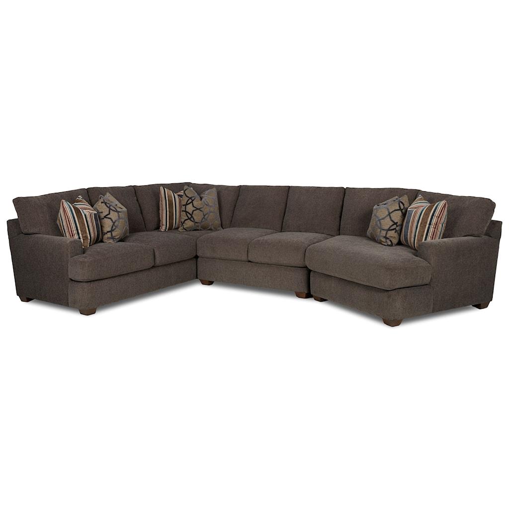 Elliston place haynes3 pc sectional sofa w raf cuddler