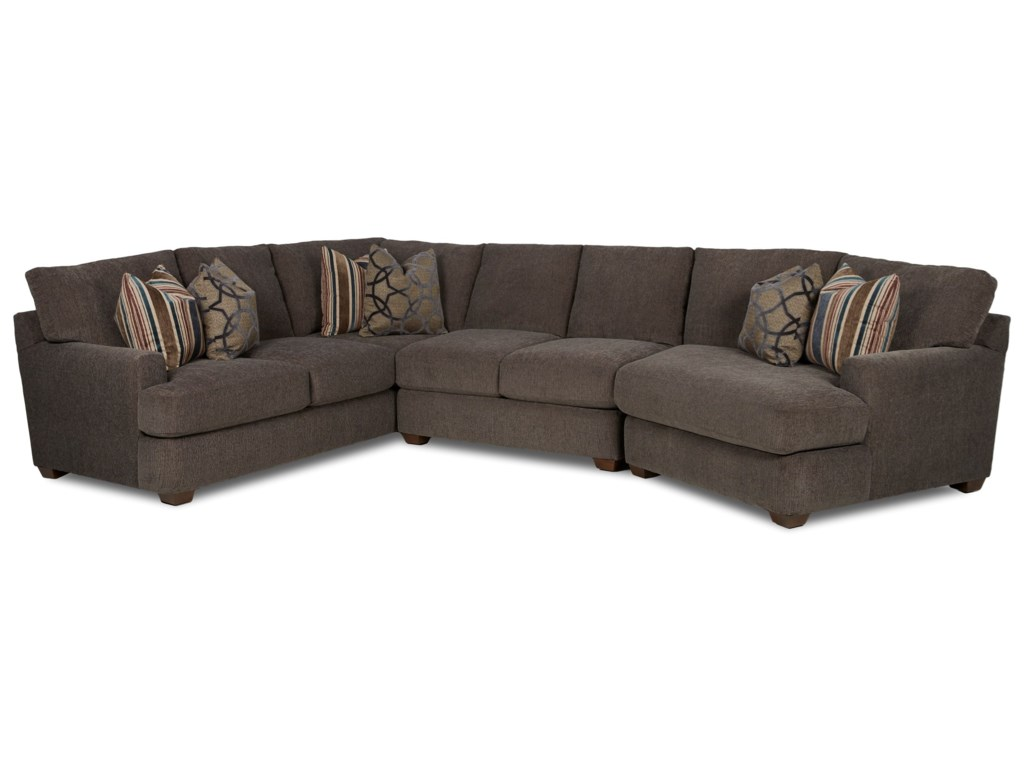 Elliston Place Haynes3 Pc Sectional Sofa w/ RAF Cuddler