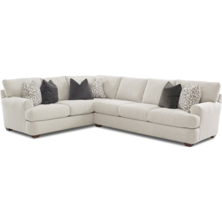 2 Pc Sectional Sofa w/ LAF Corner Sofa