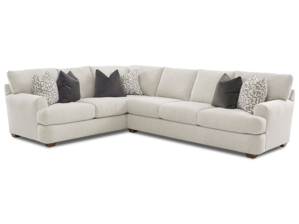 Klaussner Haynes Two Piece Sectional Sofa with LAF Corner ...