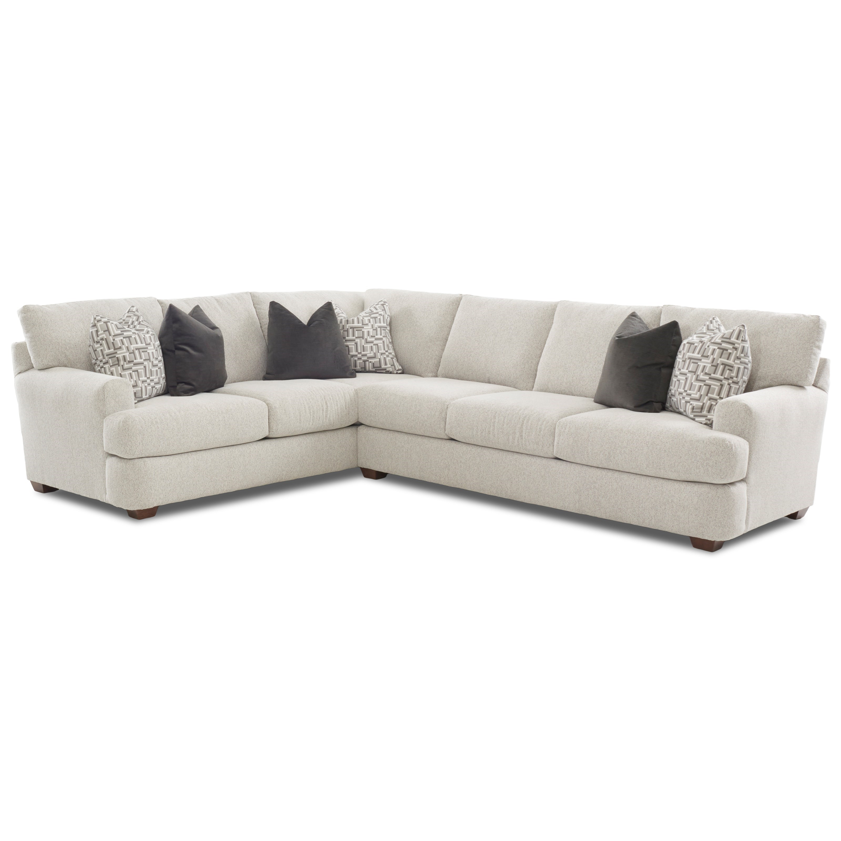 Klaussner Haynes Two Piece Sectional Sofa With LAF Corner Sofa