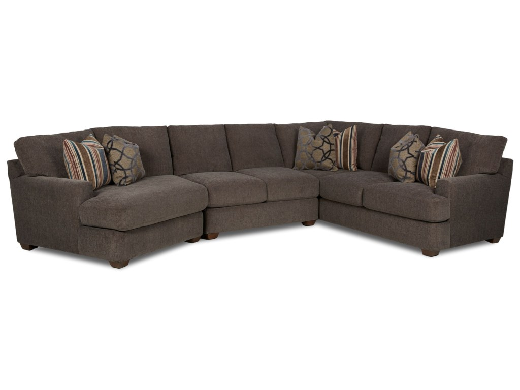 Klaussner Haynes3 Pc Sectional Sofa w/ LAF Cuddler