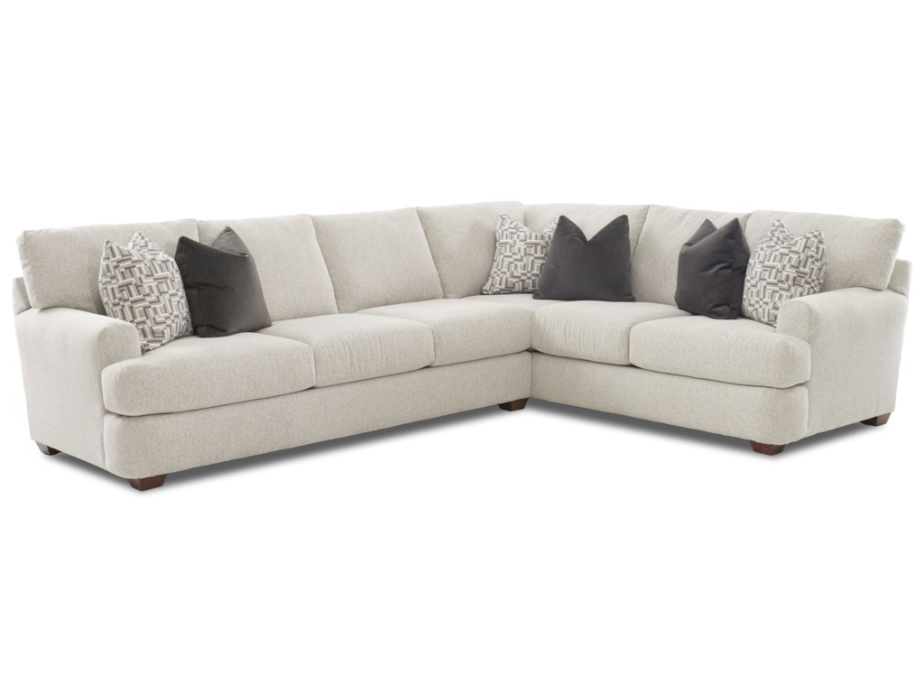 Haynes Two Piece Sectional Sofa With Raf Corner By Klaussner