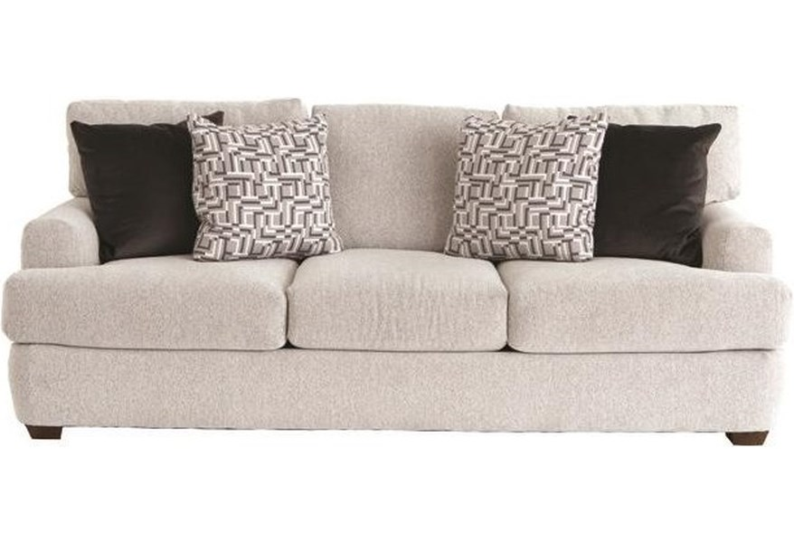 Klaussner Haynes Casual Sofa With Deep