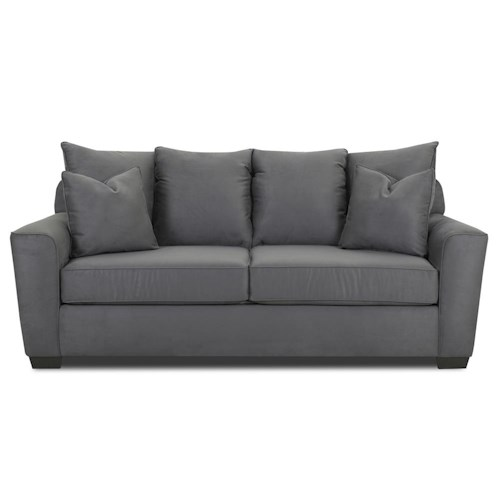Klaussner Heather Stationary Sofa with Flared Arms
