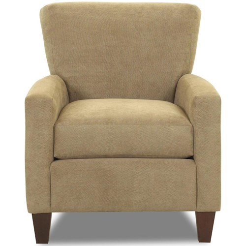 Klaussner Henry Occasional Chair with Track Arms