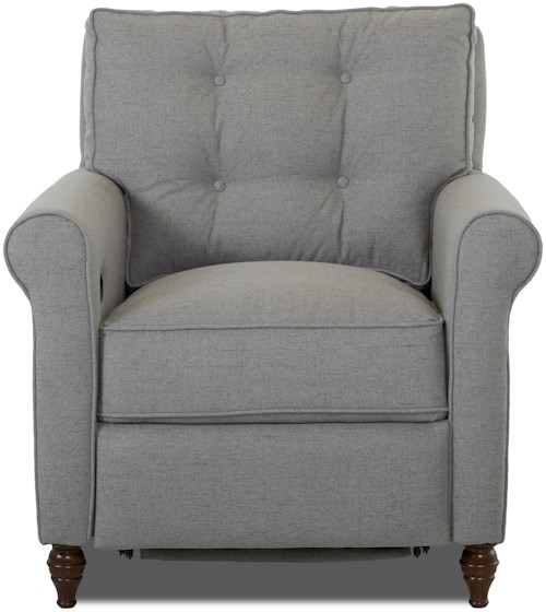 Klaussner Holland Power Hybrid Chair with Button Tufted Seat Back