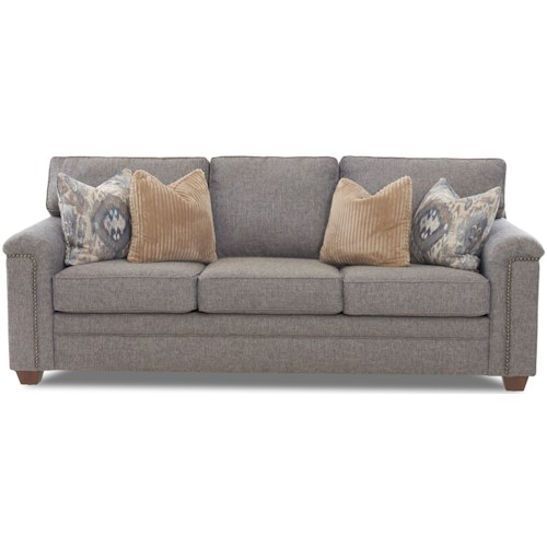 Klaussner Hollins Transitional Sofa with Nailhead Trim