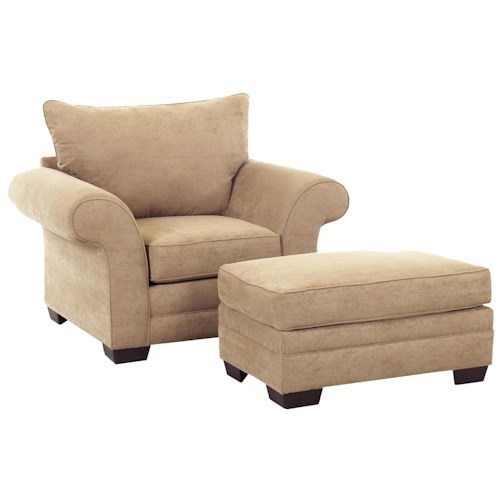 Klaussner Holly Upholstered Chair and Ottoman