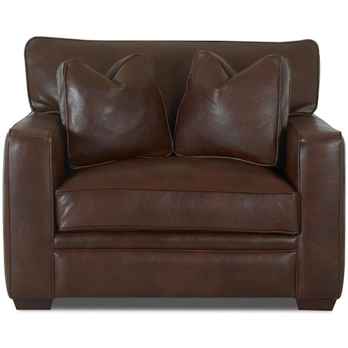 Klaussner Homestead Leather Chair