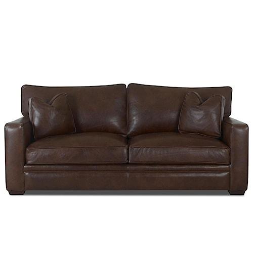 Klaussner Homestead Leather Sofa