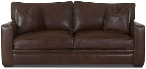 Klaussner Homestead Leather Sofa