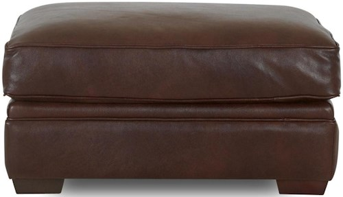 Klaussner Homestead Leather Ottoman