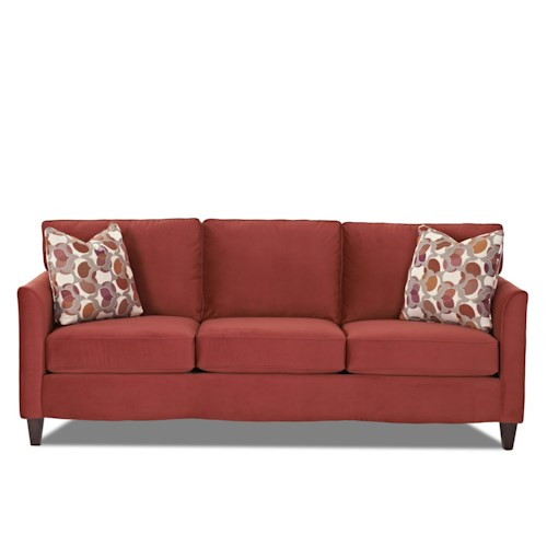 Klaussner Hopewell  Contemporary Sofa with Loose Cushions