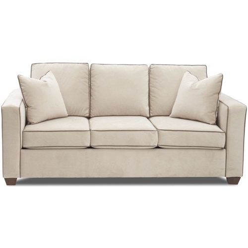 Klaussner Howe Contemporary Apartment Size Sofa